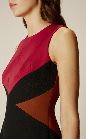 Karen Millen, GRAPHIC DRESS Red/Multi 4