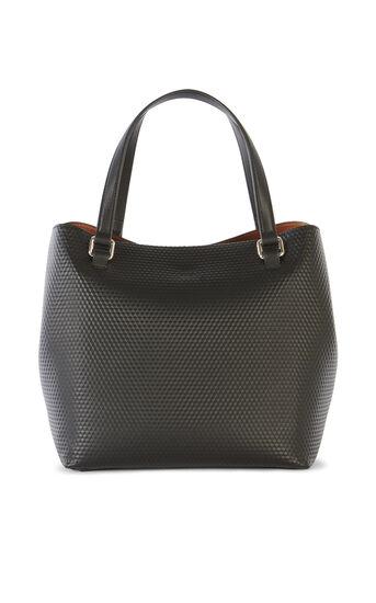 Karen Millen, EMBOSSED BUCKET BAG Black 2