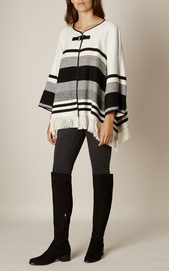 Karen Millen, STRIPE CAPE Black & Ivory 1