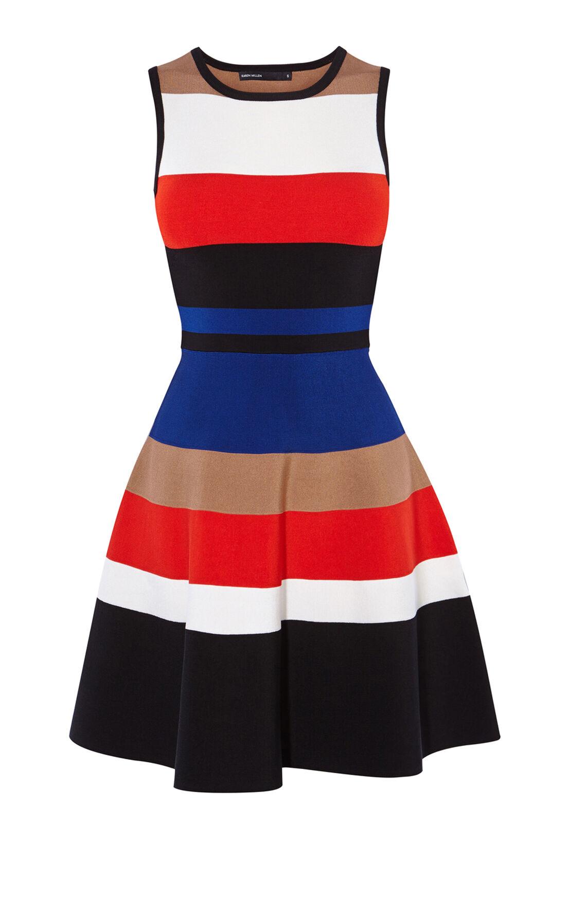 Karen Millen, MULTI-COLOUR STRIPED DRESS Multi 0