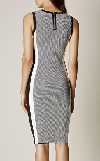 Karen Millen, ATHLETIC KNIT DRESS Black & White 3