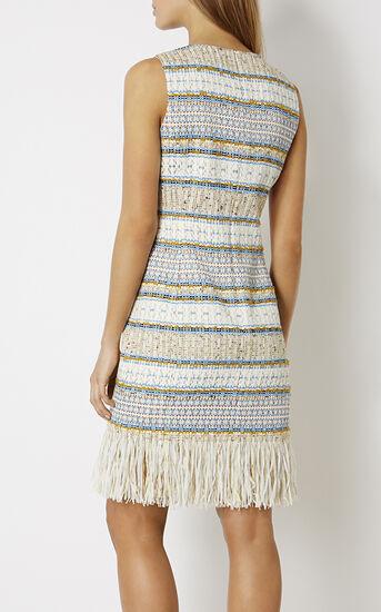 Karen Millen, FRINGED TWEED DRESS Multicolour 3