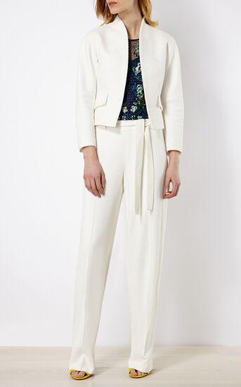 Karen Millen, TEXTURED WHITE JACKET White 1