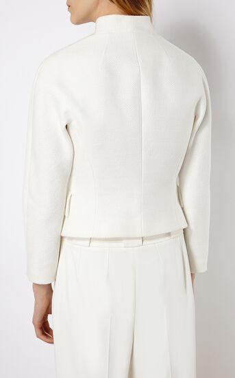Karen Millen, TEXTURED WHITE JACKET White 3
