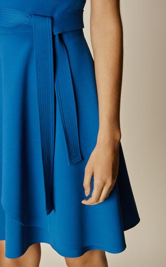 Karen Millen, ASYMMETRIC FLARED DRESS Blue 4
