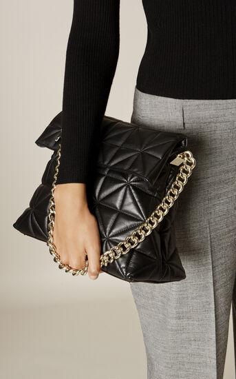 Karen Millen, QUILTED BAG Black 1