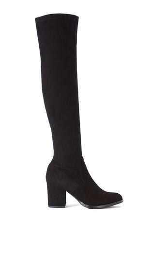 Karen Millen, BLOCK HEEL SUEDE BOOTS Black 0