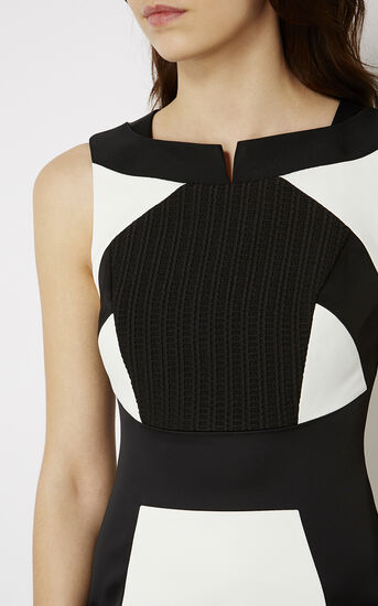 Karen Millen, MONOCHROME PENCIL DRESS Black & White 4