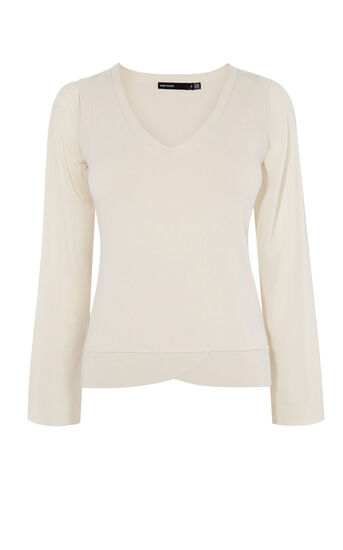 Karen Millen, SCALLOP-HEM JUMPER Neutral 0