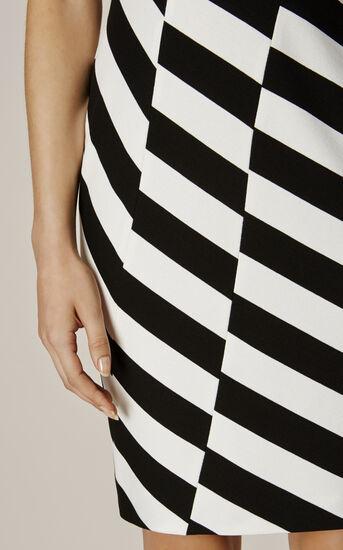 Karen Millen, BARCODE DRESS Black & White 4