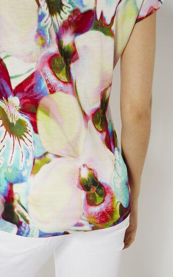 Karen Millen, ORCHID-PRINT T-SHIRT Multicolour 4