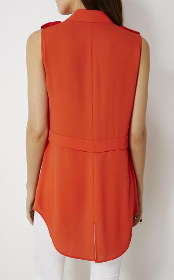Karen Millen, SLEEVELESS UTILITY SHIRT Orange 3