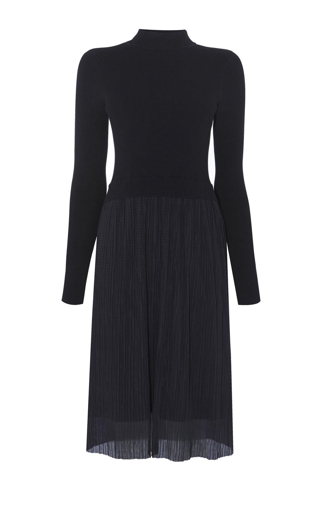Karen Millen, PLEAT-SKIRT DRESS Black 0