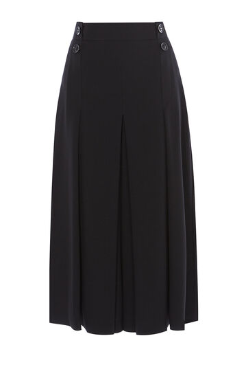 Karen Millen, PLEAT-FRONT CULOTTES Black 0