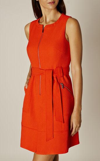 Karen Millen, ZIP-FRONT DRESS Orange 1