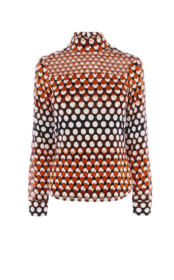 Karen Millen, SPOT TURTLENECK Multicolour 0