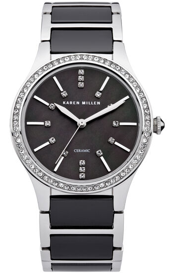 Karen Millen, Ceramic and solid steel with S Black 0