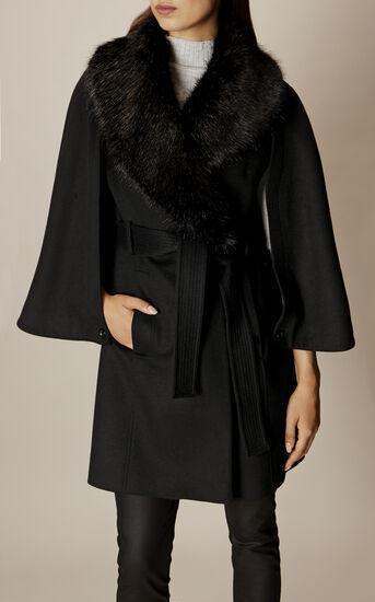 Karen Millen, BELTED CAPE Black 3