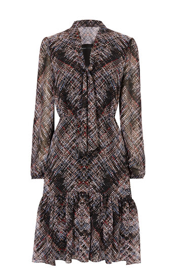 Karen Millen, PLAID DRESS Multicolour 0