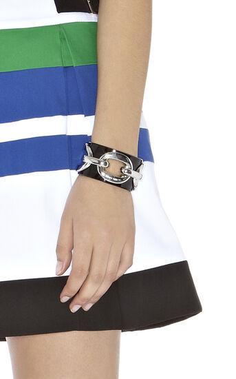 Karen Millen, Acrylic And Chain Cuff Black 1
