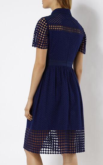 Karen Millen, BRODERIE DRESS Blue 3
