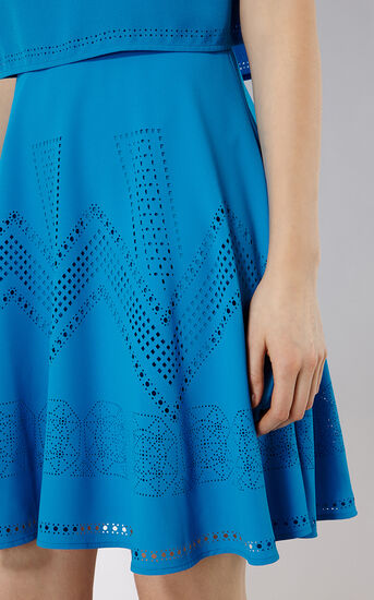 Karen Millen, LASER-CUT DRESS Blue 4