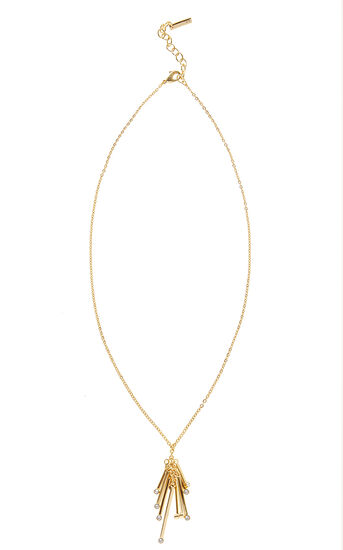 Karen Millen, Tiny dot pendant Gold Colour 0