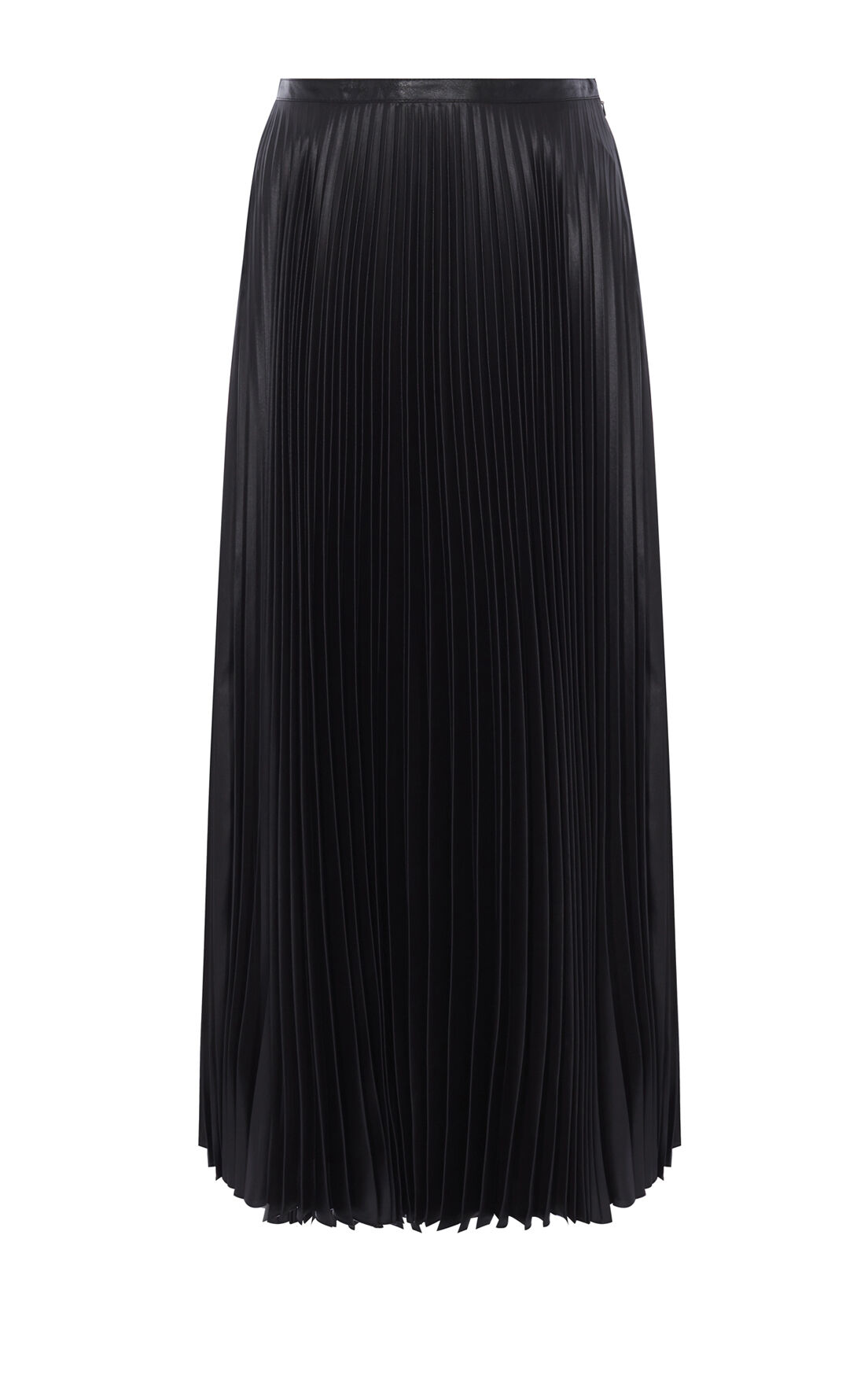 Karen Millen, WETLOOK PLEAT MAXI SKIRT Black 0