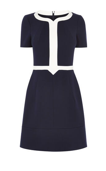 Karen Millen, A-LINE DRESS Blue/Multi 0