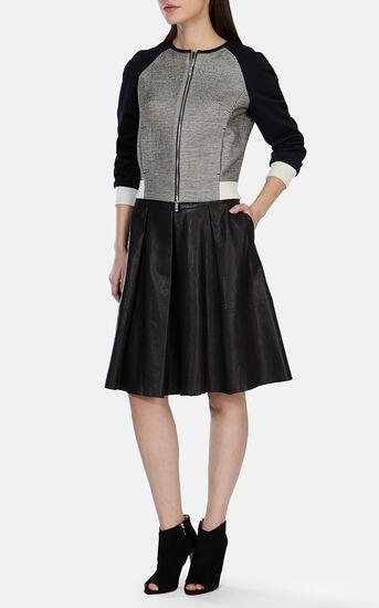 Karen Millen, Soft Leather Culotte Black 1