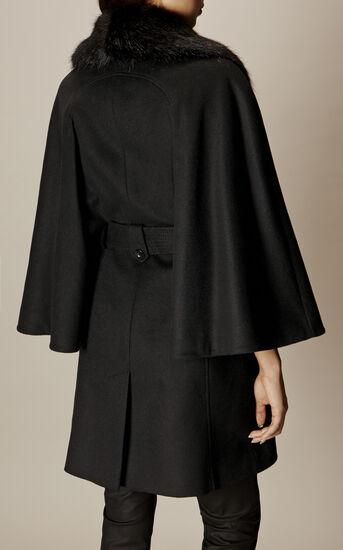 Karen Millen, BELTED CAPE Black 4