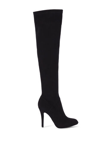 Karen Millen, STRETCH SUEDE OVER KNEE BOOTS Black 0