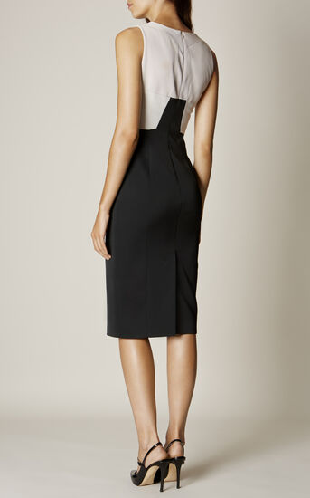 Karen Millen, COLOURBLOCK PENCIL DRESS Black & Ivory 3