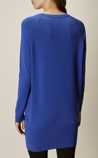 Karen Millen, CUT-OUT NECK TUNIC Blue 3