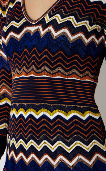 Karen Millen, ZIGZAG KNIT DRESS Multi 4