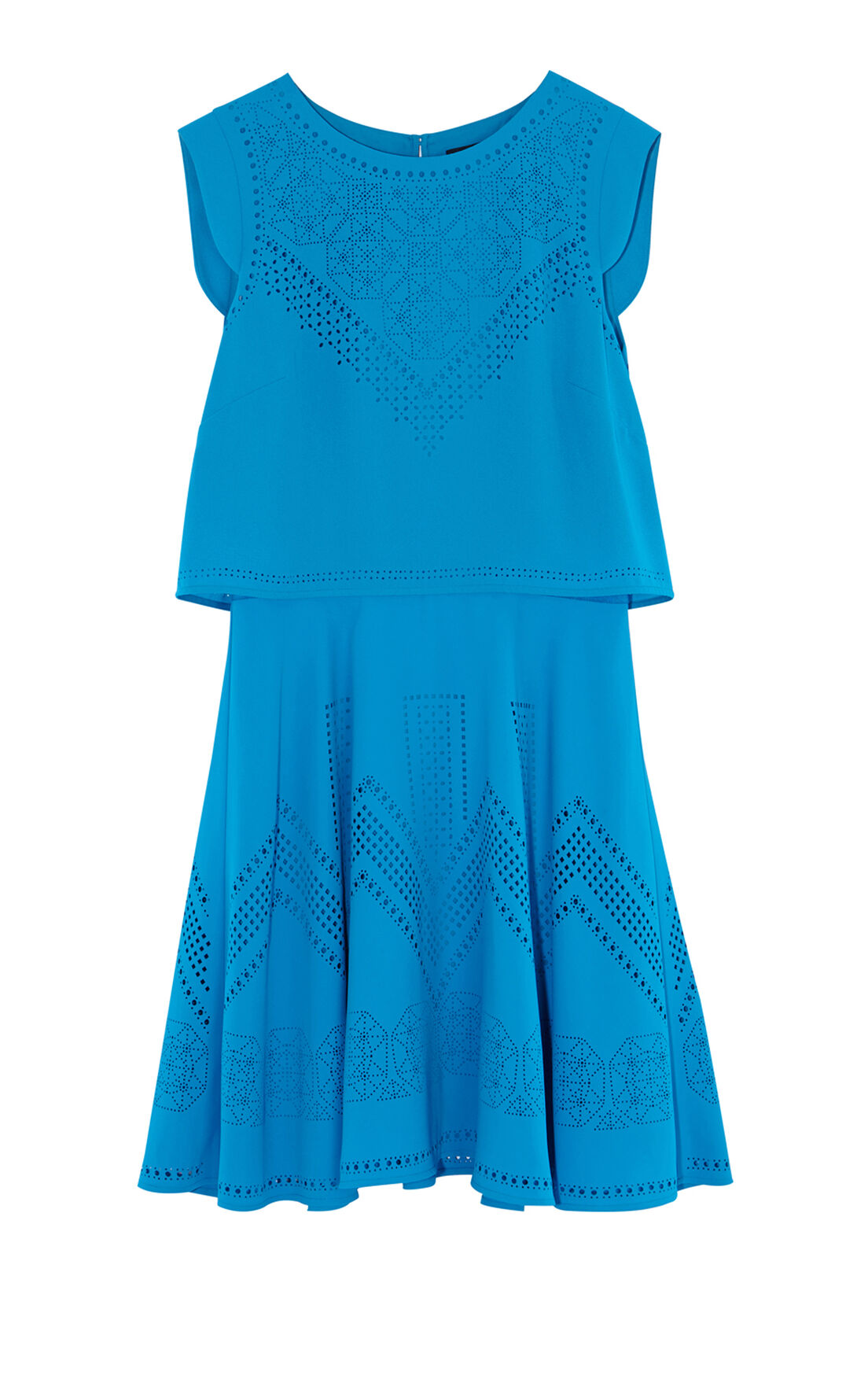 Karen Millen, LASER-CUT DRESS Blue 0