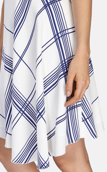 Karen Millen, FLUID CHECK PRINT DRESS White/Mult 4