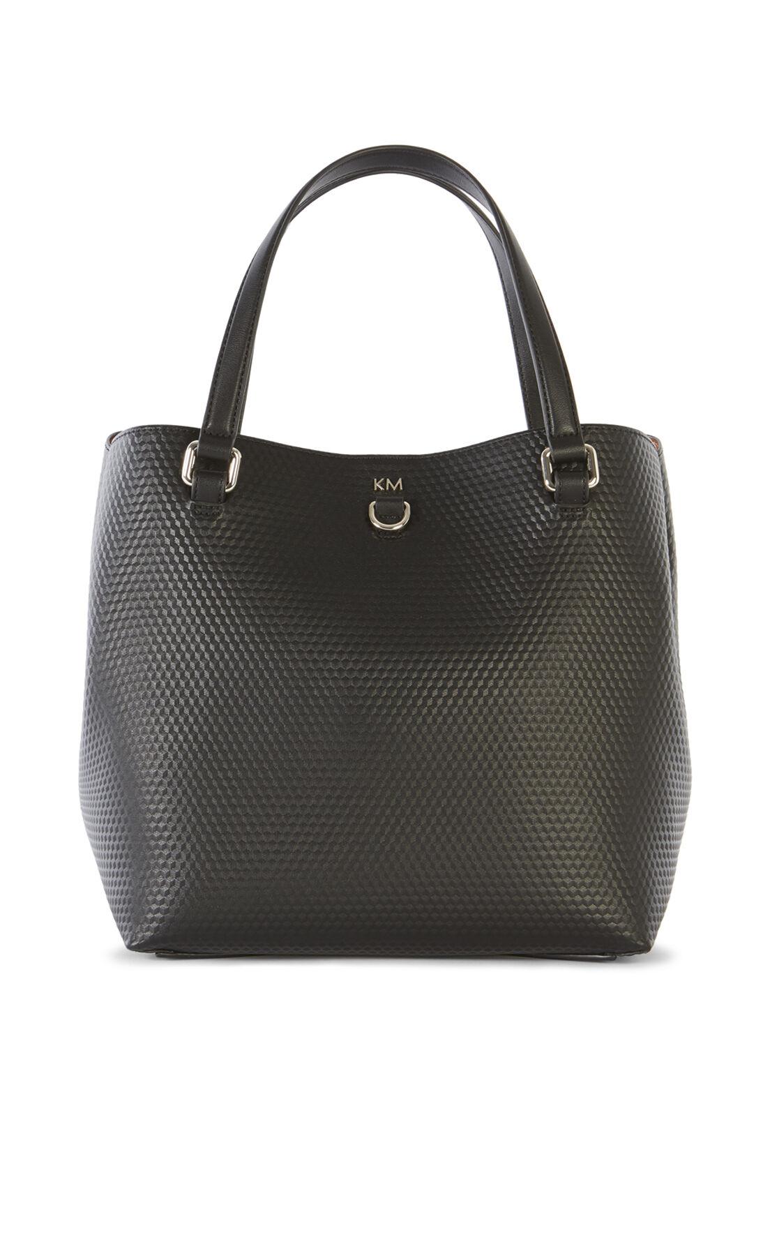 Karen Millen, EMBOSSED BUCKET BAG Black 0