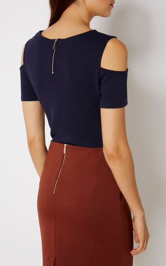 Karen Millen, ESSENTIAL JERSEY TOP Navy 3