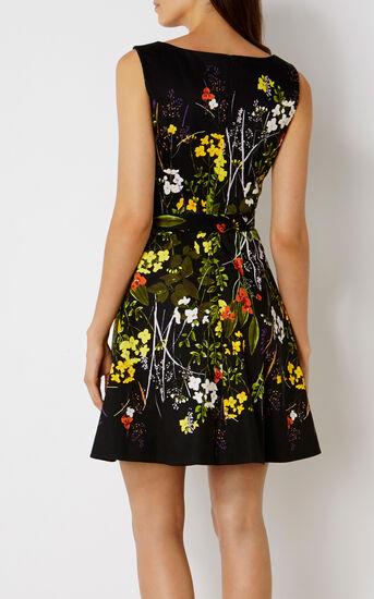 Karen Millen, FLORAL FLARED DRESS Multicolour 3