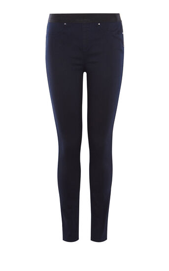 Karen Millen, SATIN DENIM LEGGING Dark Denim 0