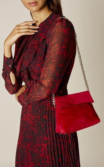 Karen Millen, MINI SHOULDER BAG Red 1
