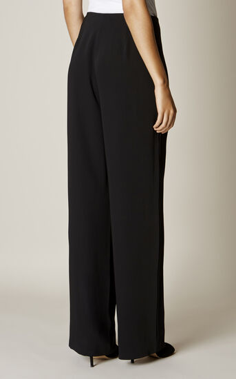 Karen Millen, WIDE-LEG TROUSERS Black 3