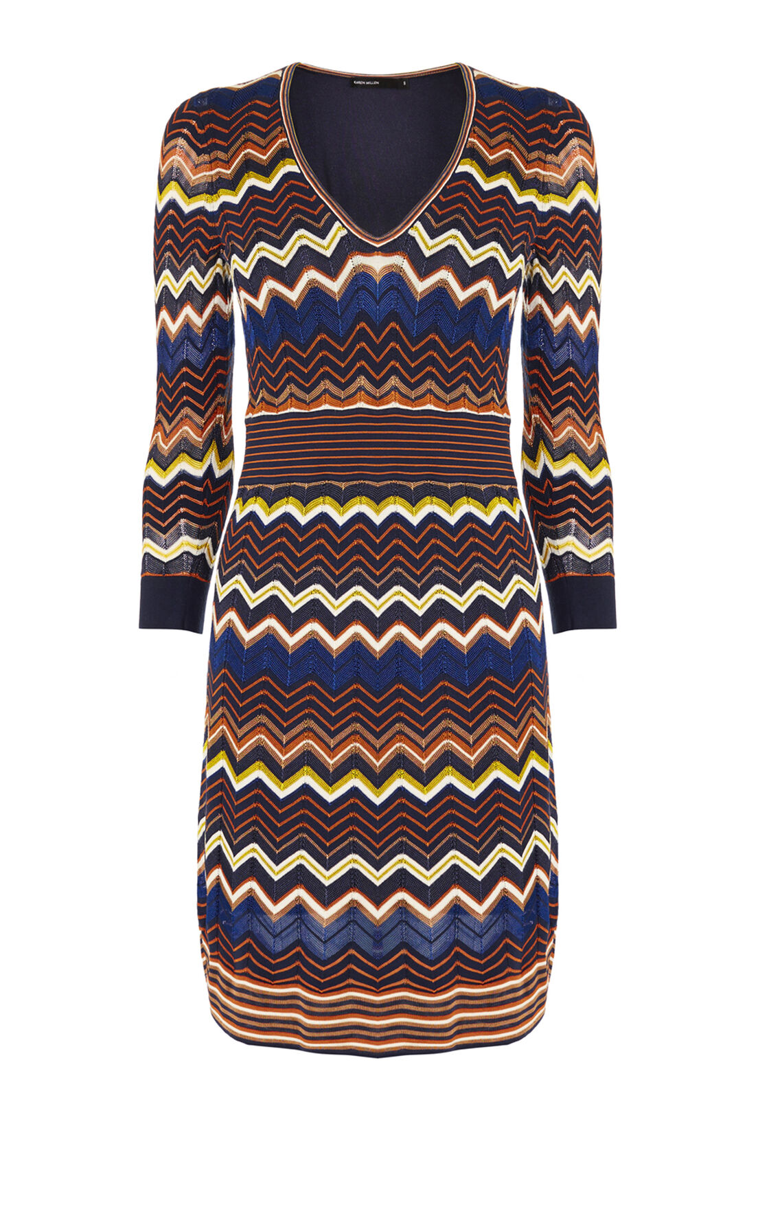 Karen Millen, ZIGZAG KNIT DRESS Multi 0
