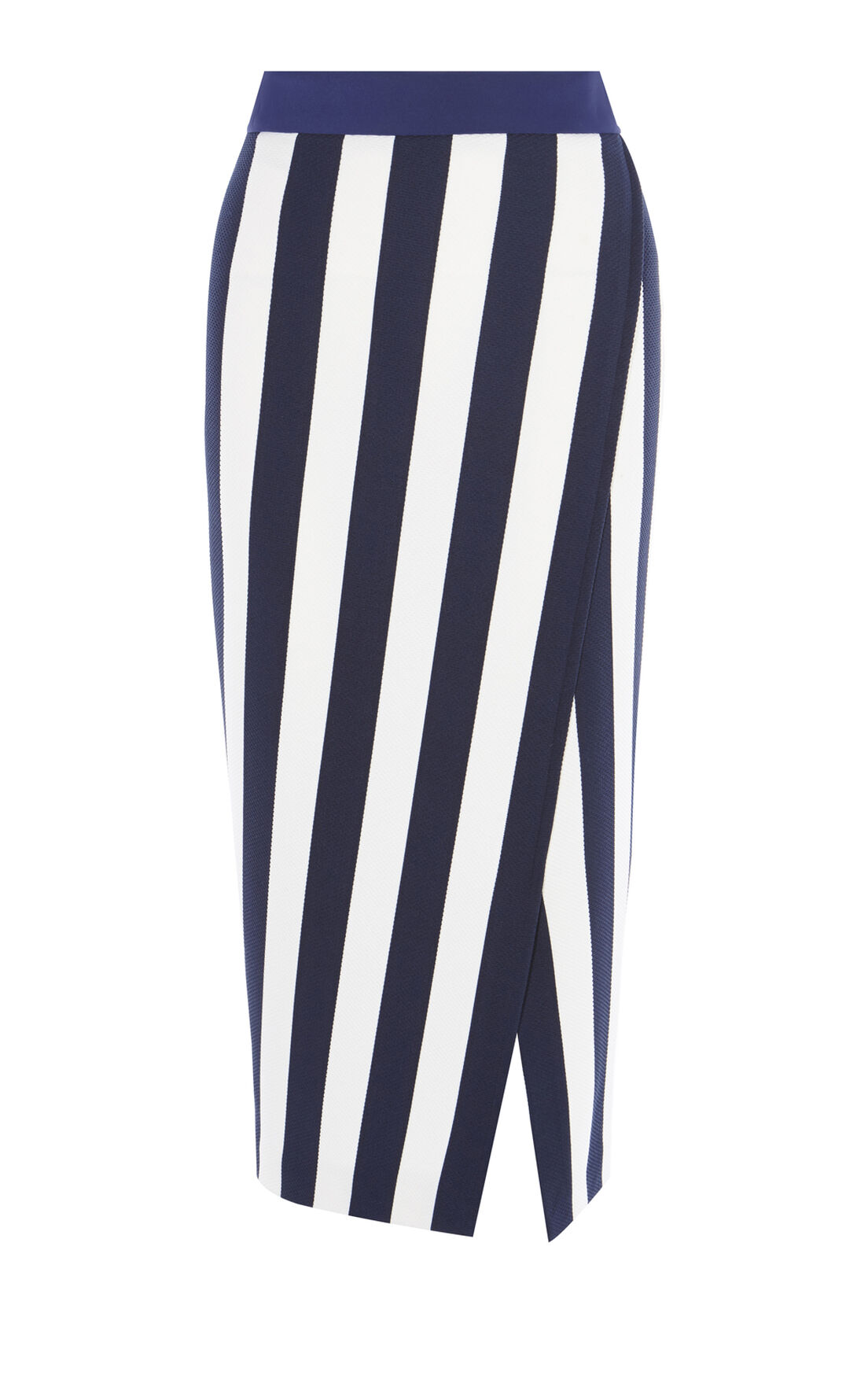 Karen Millen, STRIPED JERSEY SKIRT Blue/Multi 0