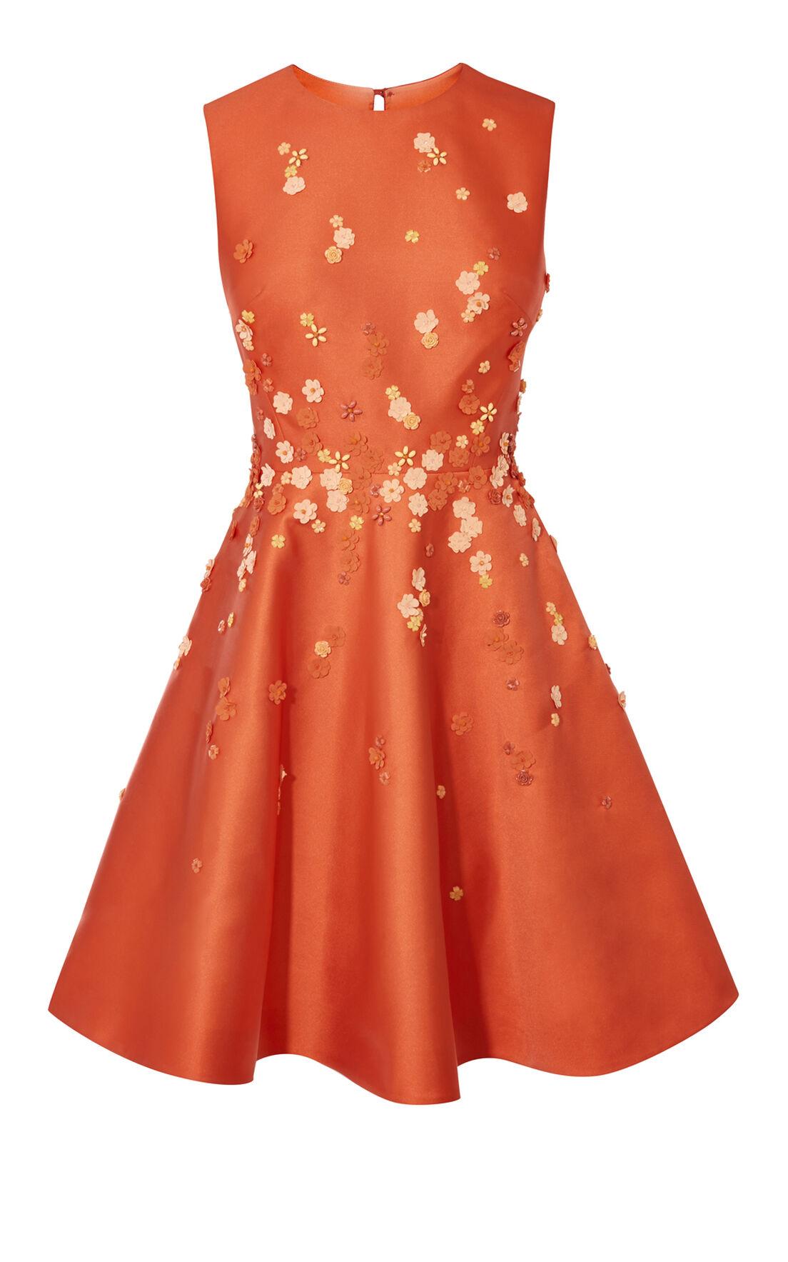 Karen Millen, BEADED PROM DRESS Orange 0