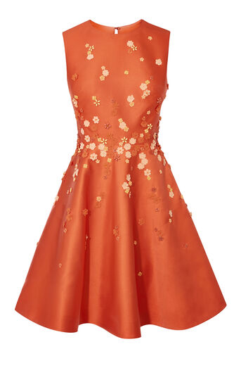 Karen Millen, BEADED PROM DRESS Orange