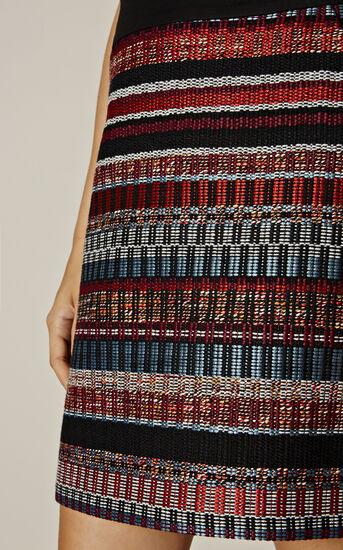 Karen Millen, ITALIAN TWEED SKIRT Multicolour 4