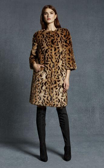 Karen Millen, LEOPARD PRINT FAUX FUR COAT Leopard Print 1