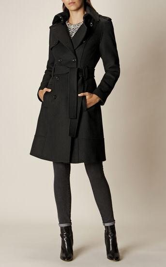 Karen Millen, BELTED COAT Black 1
